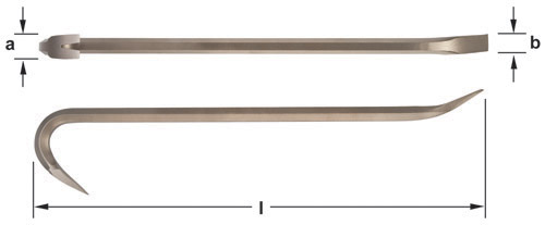 Ampco Non-Sparking, Non-Magnetic & Corrosion Resistant Safety Bar, Wrecking