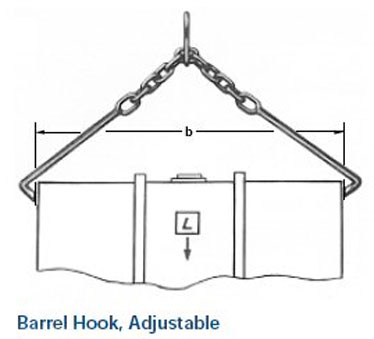 Ampco Non-Sparking, Non-Magnetic & Corrosion Resistant Safety Barrel Hook, Adjustable