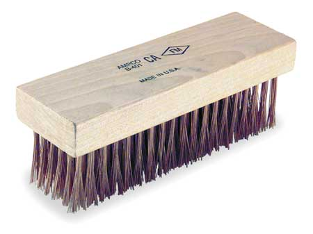 Ampco Non-Sparking, Non-Magnetic & Corrosion Resistant Safety Brush, Flat Back, Scratch