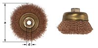 Ampco Non-Sparking, Non-Magnetic & Corrosion Resistant Safety Brush, Cup, Crimped Wire