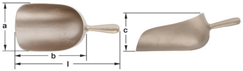 Ampco Non-Sparking, Non-Magnetic & Corrosion Resistant Safety Sugar Scoop