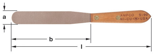 Ampco Non-Sparking, Non-Magnetic & Corrosion Resistant Safety Spatula
