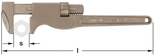 Ampco Non-Sparking, Non-Magnetic & Corrosion Resistant Safety Wrench, Monkey