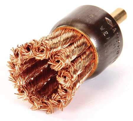 Ampco Non-Sparking, Non-Magnetic & Corrosion Resistant Safety Brush, End, Knot Wire