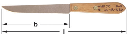 Ampco Non-Sparking, Non-Magnetic & Corrosion Resistant Safety Knife, Common, b (in) 5-3/4  l (in) 10-1/4