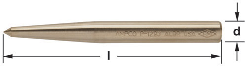 Ampco Non-Sparking, Non-Magnetic & Corrosion Resistant Safety Punch, Center
