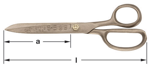 Ampco Non-Sparking, Non-Magnetic & Corrosion Resistant Safety Shears, Cutting