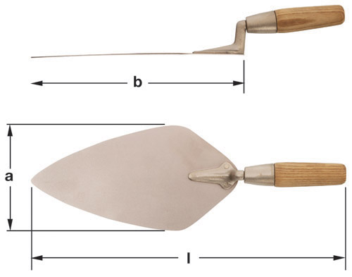 Ampco Non-Sparking, Non-Magnetic & Corrosion Resistant Safety Trowel, Bricklayers'