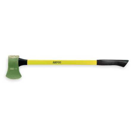 Ampco Non-Sparking, Non-Magnetic & Corrosion Resistant Safety Axe, Flat Head