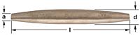 Ampco Non-Sparking, Non-Magnetic & Corrosion Resistant Safety Drift Pin, Barrel Type/Double End Aligning Pin
