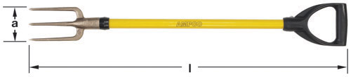 Ampco Non-Sparking, Non-Magnetic & Corrosion Resistant Safety Fork, Guncotton