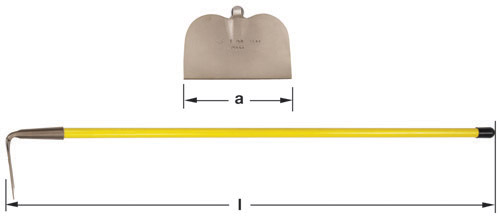 Ampco Non-Sparking, Non-Magnetic & Corrosion Resistant Safety Hoe, Garden/Mixing, Straight Blade