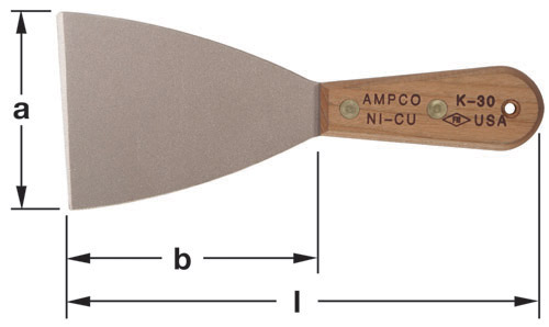 Ampco Non-Sparking, Non-Magnetic & Corrosion Resistant Safety Knife, Putty/Hand Scraper, Stiff Blade