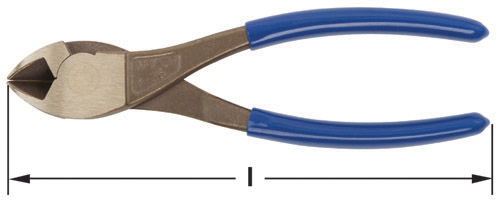 Ampco Non-Sparking, Non-Magnetic & Corrosion Resistant Safety Pliers, Diagonal Cutting, l (in) 7