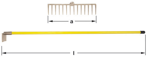 Ampco Non-Sparking, Non-Magnetic & Corrosion Resistant Safety Rake, a (in) 14-1/4  l (in) 60-1/4