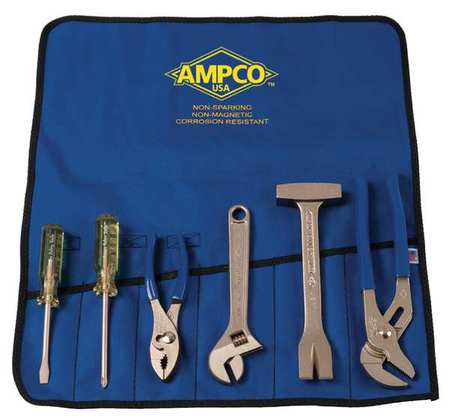 Ampco Non-Sparking, Non-Magnetic & Corrosion Resistant Safety  6 Piece Tool Kit