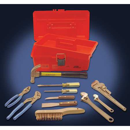 Ampco Non-Sparking, Non-Magnetic & Corrosion Resistant Safety  11 Piece Tool Kit