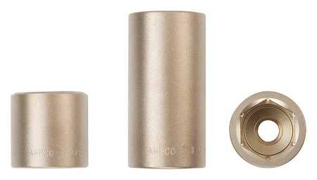 "Ampco Non-Sparking SOCKET, 6-POINT, 1/4"" DRIVE, METRIC"
