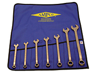 Ampco Combination Wrench Kit, 3/8-7/8(7 Piece)
