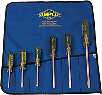 Ampco 6 PC Non-Sparking, Non-Magnetic, Corrosion-Resistant Screwdriver Set.