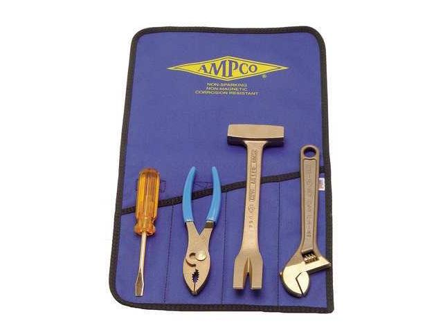 Ampco 4 PC Non-Sparking, Non-Magnetic, Corrosion-Resistant Tool Kit.