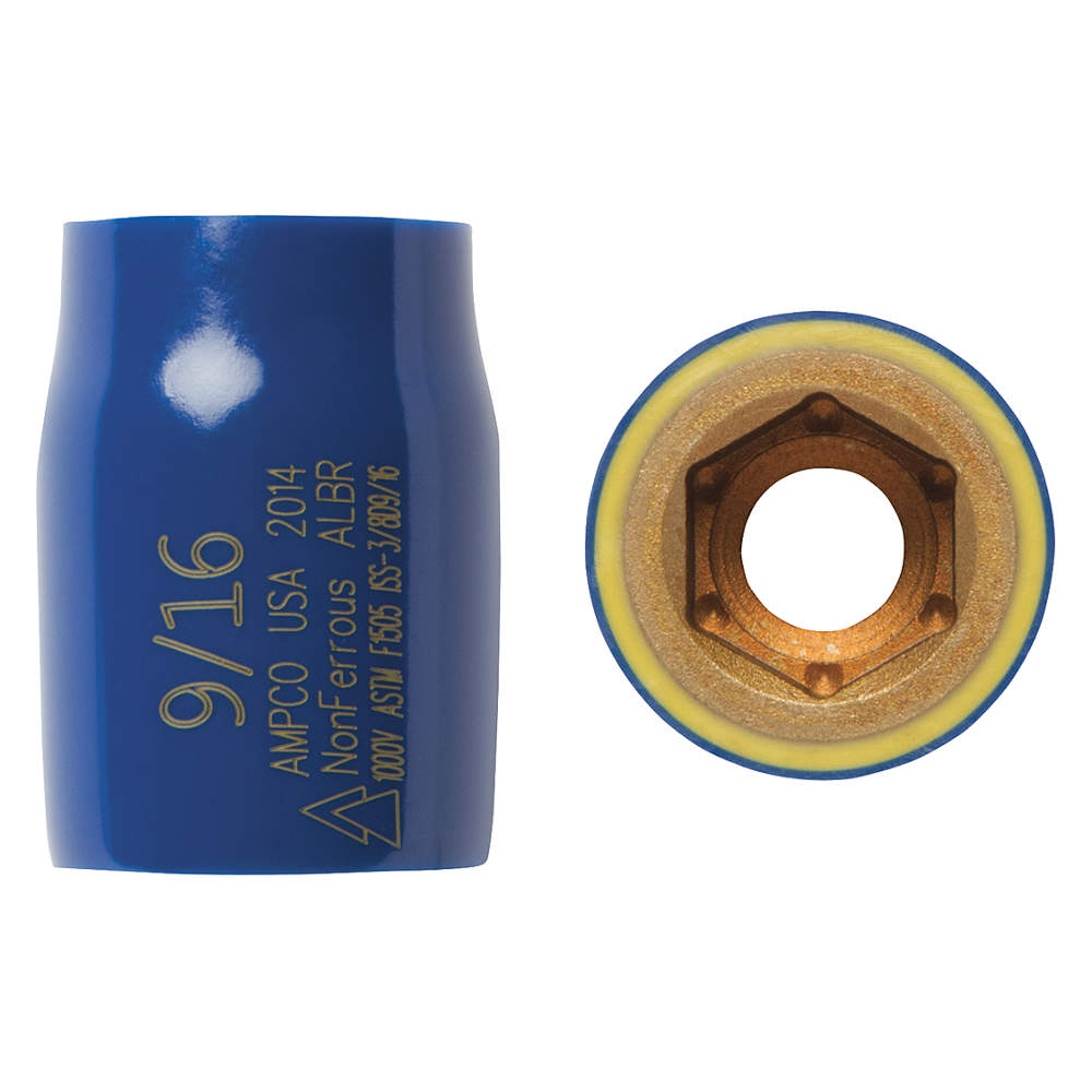 """Ampco INSULATED SOCKET, STANDARD, 3/8"""" DRIVE, 7/16"""""""