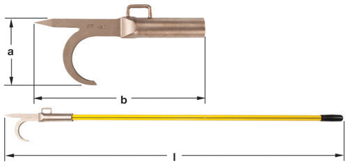 Ampco Non-Sparking, Non-Magnetic, Corrosion-Resistant Fireman's Hook/Pike Pole