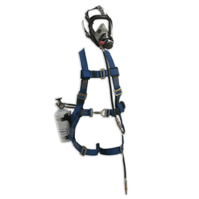 Sperian Pressure Demand SAR with Escape Cylinder and Class 3 Miller Fall Protection Harness