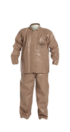 DuPont Tychem CPF 3 Bib Overall & Jacket Combo