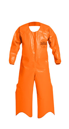 DuPont Tychem ThermoPro Open Back Coverall. Elastic Wrists