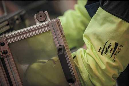 """Ansell CUT-RESISTANT SLEEVE, LIME, 19"""""""