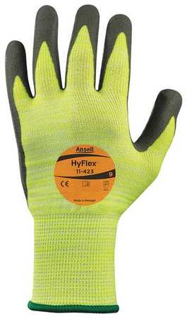 Ansell CUT RESISTANT GLOVES, GRAY/YELLOW