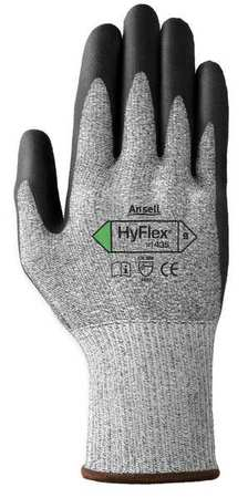 Ansell CUT RESISTANT GLOVES, BLACK/GRAY