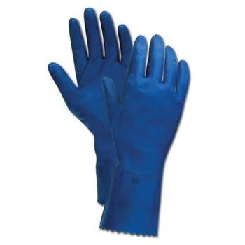 Ansell Unsupported Natural Rubber Latex Glove44; Natural Blue