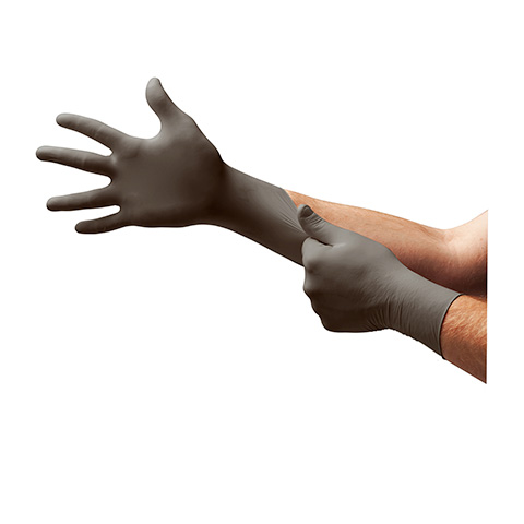 Ansell TouchNTuff Dark Grey Disposable Nitrile Glove with Ansell Grip Technology