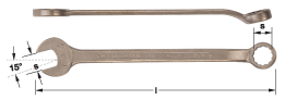 Ampco Non-Sparking, Non-Magnetic & Corrosion Resistant Safety Wrench Combination, mm , l (mm) 115