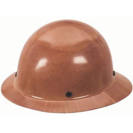 MSA Skullgard Brown Protective Hat with Staz-On Suspension
