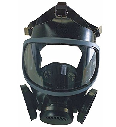 MSA Hycar Rubber UltraVue/Ultra-Twin Facepiece Assembly, Medium, Black