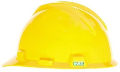 MSA V-Gard Cap Yellow W/ Ratchet Suspension (Fast Trac)
