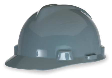 MSA V-Gard Standard Slotted Cap w/ Fas-Trac Suspension, Gray