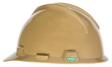 MSA V-Gard Safety Cap Gold W/Ratchet Suspension