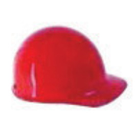 MSA Red Skullgard Phenolic Cap Style Hard Hat With Fas Trac Ratchet Suspension
