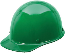 MSA Green Skullgard Phenolic Cap Style Hard Hat With Fas Trac Ratchet Suspension
