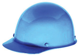 MSA Blue Skullgard Phenolic Cap Style Hard Hat With Fas Trac Ratchet Suspension