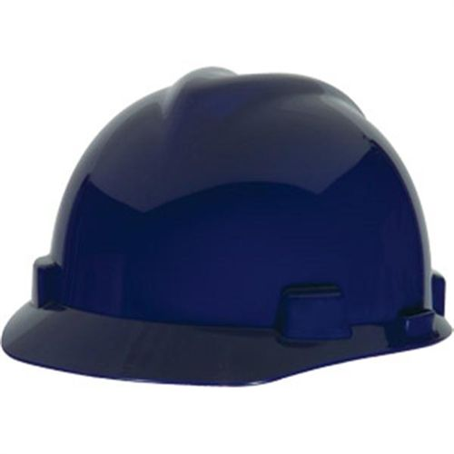 MSA V-Gard Standard Slotted Cap w/ Fas-Trac Suspension, Dark Blue
