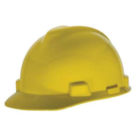 MSA V-Gard Cap Style Hard Hat - Fas-Trac Suspension - Yellow