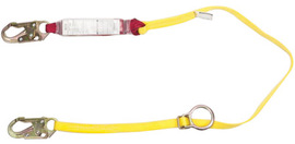 "MSA 4' Sure-Stop 1 3/4"" Nylon Web Single-Leg Shock-Absorbing Expanyard Lanyard With 36C Harness Connection And Anchorage Connection"