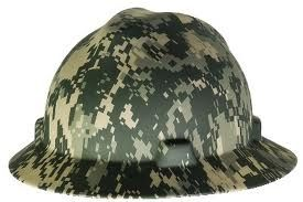 MSA 1hard hat,4 pt. ratchet,camouflage