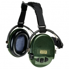 MSA Supreme Pro-X Headband Ear Muffs - 19dB NRR - Green