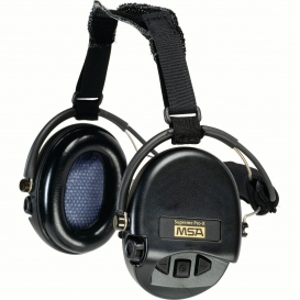 MSA Supreme Pro-X Ear Muffs w/ Black Neckband - 19dB NRR -Black